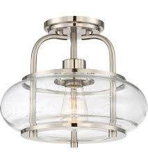 Nickel Ceiling Light Quoizel Trg1712bn Trilogy 1 Light 12 Inch Brushed Nickel Semi
