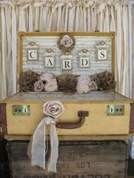 Country Shabby Chic Wedding by Vintage Suitcase For Rustic Wedding Card Holder Wedding Card Box