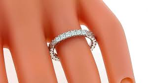 tacori wedding bands tacori asscher cut diamond gold eternity wedding band for sale at