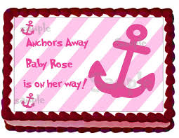 baby shower cake toppers girl nautical girl baby shower cake by eyecandeycreativedesigns on zibbet