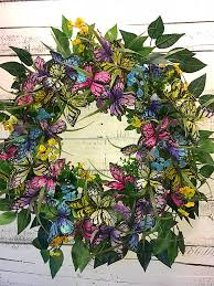 decorative wreaths for the home spring wreath summer wreath spring butterfly wreath butterfly