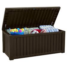 Patio Storage Chest by Keter Rockwood 150 Gallon Deck Box 214301 Hayneedle