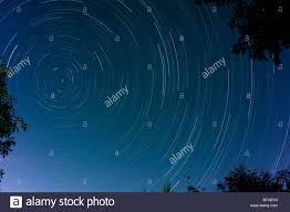polaris star long exposure image of star trails around polaris the north pole