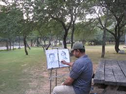 a painter a painter in the park islamabad scene