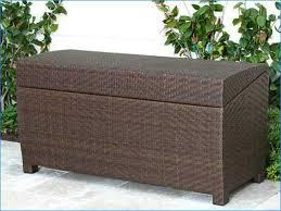 Wicker Storage Bench Deck Storage Bench Wicker Home Design Ideas