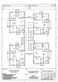 Floor Plan Description by Floor Plan Aparna Sarovar Hyderabad Residential Property Buy