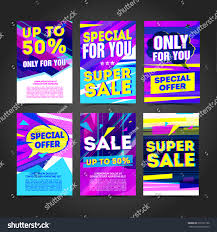 set cyber design template banner card stock vector 539127166