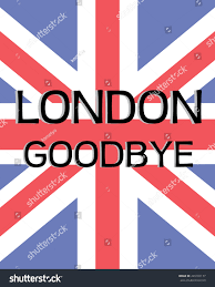 Great Britain Flag Great Britain Flag London Goodbye Text Stock Vector 445165177