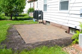 Slope For Paver Patio by Paver Patio Done Markson Blog