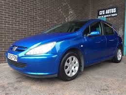 blue peugeot 2002 peugeot 307 rapier 1 former keeper 5 door lovely car in