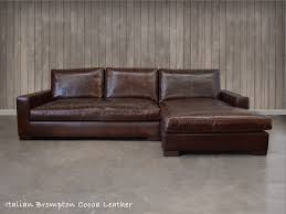 Brompton Leather Sofa The Braxton Leather Sofa Chaise Sectional Shown Here In Italian