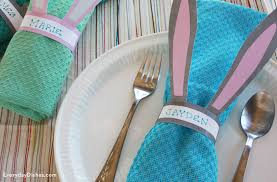 Printable Decorations For Easter by Printable Bunny Napkin Rings Everyday Dishes U0026 Diy