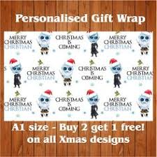 of thrones wrapping paper personalised wars christmas wrapping paper 2 tags all