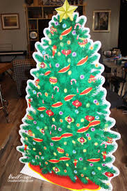 doodlecraft cardboard cutout christmas tree with real lights