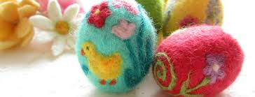 felted easter eggs needle felted easter decorations craft in ireland event