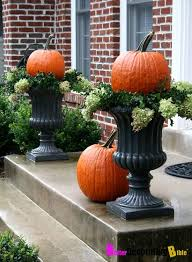 Outdoor Fall Decor Pinterest - pumpkins in the window box for outside fall decor fall