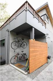 backyards cool an exterior mud room and bike storage for this