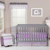 Dahlia Nursery Bedding Set Dahlia 6 Lavender Flower Baby Crib Bedding