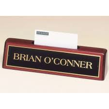 Name Plate Desk 541 Nameplate With Business Card Holder With Free Engraving