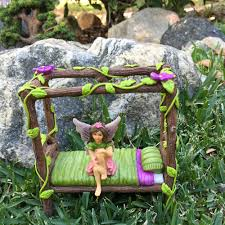 fairy bed miniature fairy and baby gnome bed a 4 post miniature bed for your