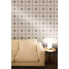 wall decor diamond taupe metallic wallpaper by tempaper wallpaper