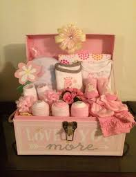 gifts for baby shower pink giraffe baby girl gift basket tote chest www