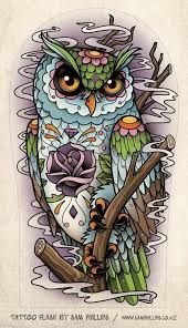 owl and pocket watch tattoos sketch photo 2 2017 real photo