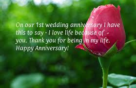 1st Anniversary Wishes Messages For Wife First Anniversary Wishes And Messages For Couples Wishesmsg