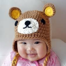 relax hat rilakkuma crochet baby hat animal baby hat