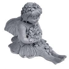 fairy garden statues nichols bros stoneworks cast stone fairy with dogwood garden
