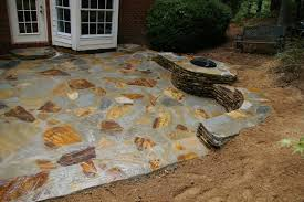 Stone Decks And Patios by Stone Patio And Fire Pit