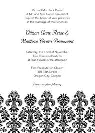 damask wedding invitations printable black damask wedding invitation template