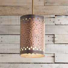 Hammered Copper Cylinder Pendant Light Shades Of Light