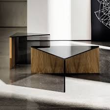 contemporary coffee table wooden glass laminate regolo sovet