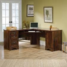 sauder harbor view computer desk and hutch sauder harbor view corner computer desk with hutch antiqued white