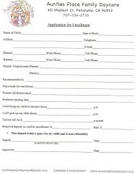 9 daycare application form templates free pdf doc format printable