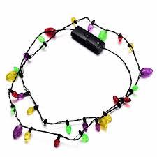 onnea led light up necklace plastic flashlight luminous