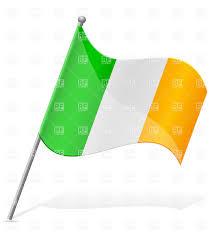 icon of wavy flag of ireland isolated on white background vector