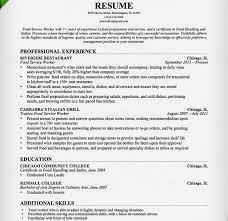 Food Prep Job Description Resume by Food Service Resume Template Create My Resume Best Fast Food