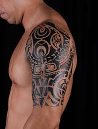 samoan polynesian tattoos on chest and half sleeve in 2017 real