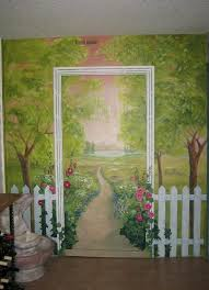 Wall Paintings Designs Best 25 Garden Mural Ideas On Pinterest Fence Painting Garden