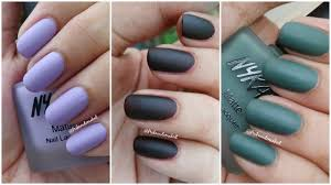 nykaa matte nail lacquer swatches and review matte