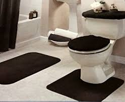 Black Bathroom Rug Black Bathroom Rug Set 4 Pc Home Kitchen