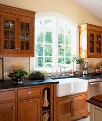 farmhouse kitchen with oak cabinets traditional farmhouse kitchen oak cabinets page 1 line
