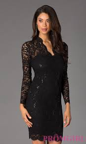 black dresses wedding knee length sleeve lace cocktail dress