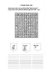 english worksheets word search spelling rules when adding ing