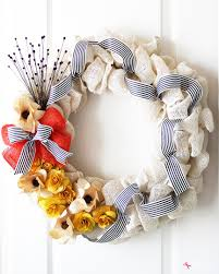 diy burlap flower wreath easy home decor craft idea