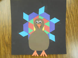 mrs t u0027s first grade class pattern block turkeys