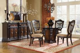 Round Dining Room Tables For 4 by Cabernet Round Glass Pedestal Table 4 Chairs