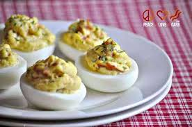 1 thanksgiving appetizers bacon deviled eggs peace and low